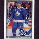 1991-92 O-Pee-Chee Hockey #299 Vincent Damphousse - Toronto Maple Leafs