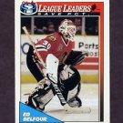 1991-92 O-Pee-Chee Hockey #288 Ed Belfour LL - Chicago Blackhawks