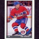 1991-92 O-Pee-Chee Hockey #287 Tom Chorske - Montreal Canadiens
