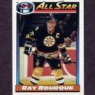 1991-92 O-Pee-Chee Hockey #261 Ray Bourque AS - Boston Bruins