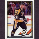 1991-92 O-Pee-Chee Hockey #235 Scott Young - Pittsburgh Penguins