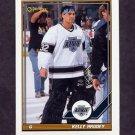 1991-92 O-Pee-Chee Hockey #195 Kelly Hrudey - Los Angeles Kings