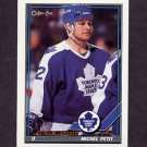 1991-92 O-Pee-Chee Hockey #166 Michel Petit - Toronto Maple Leafs