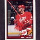1991-92 O-Pee-Chee Hockey #104 Jimmy Carson - Detroit Red Wings