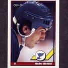 1991-92 O-Pee-Chee Hockey #082 Mario Marois - St. Louis Blues