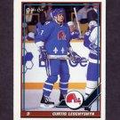 1991-92 O-Pee-Chee Hockey #039 Curtis Leschyshyn -  Quebec Nordiques