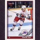 1991-92 O-Pee-Chee Hockey #027 Danton Cole - Winnipeg Jets