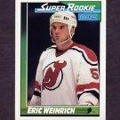 1991-92 O-Pee-Chee Hockey #010 Eric Weinrich SR - New Jersey Devils