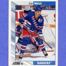 1992-93 Score Hockey #548A Jay Wells - New York Rangers