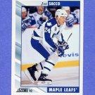1992-93 Score Hockey #532 Joe Sacco - Toronto Maple Leafs