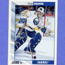 1992-93 Score Hockey #530 Tom Draper - Buffalo Sabres