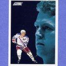 1992-93 Score Hockey #491 Brian Leetch DT - New York Rangers