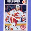 1992-93 Score Hockey #485 Chris Lindberg - Calgary Flames