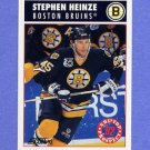 1992-93 Score Hockey #476 Steve Heinze - Boston Bruins