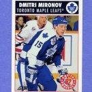 1992-93 Score Hockey #468 Dmitri Mironov - Toronto Maple Leafs