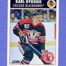 1992-93 Score Hockey #462 Karl Dykhuis - Chicago Blackhawks