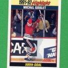 1992-93 Score Hockey #444 Michel Goulet SH - Chicago Blackhawks
