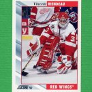 1992-93 Score Hockey #396 Vincent Riendeau - Detroit Red Wings