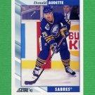1992-93 Score Hockey #393 Donald Audette - Buffalo Sabres