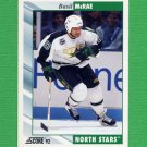 1992-93 Score Hockey #356 Basil McRae - Minnesota North Stars