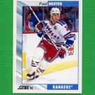 1992-93 Score Hockey #353 Paul Broten - New York Rangers