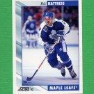 1992-93 Score Hockey #344 Ric Nattress - Toronto Maple Leafs