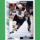 1992-93 Score Hockey #317 Bob Sweeney - Boston Bruins