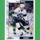 1992-93 Score Hockey #310 Peter Ahola - Los Angeles Kings
