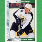 1992-93 Score Hockey #294 Chris Dahlquist - Minnesota North Stars