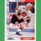 1992-93 Score Hockey #279 Robert Dirk - Vancouver Canucks
