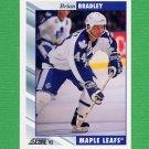 1992-93 Score Hockey #259 Brian Bradley - Toronto Maple Leafs