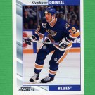 1992-93 Score Hockey #242 Stephane Quintal - St. Louis Blues