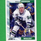 1992-93 Score Hockey #215 Mikael Andersson - Hartford Whalers
