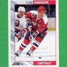 1992-93 Score Hockey #209 Calle Johansson - Washington Capitals