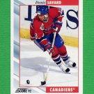 1992-93 Score Hockey #202 Denis Savard - Montreal Canadiens