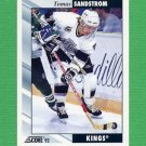 1992-93 Score Hockey #199 Tomas Sandstrom - Los Angeles Kings