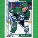 1992-93 Score Hockey #172 Steve Konroyd - Hartford Whalers