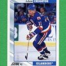 1992-93 Score Hockey #144 Adam Creighton - New York Islanders