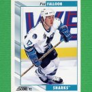 1992-93 Score Hockey #125 Pat Falloon - San Jose Sharks
