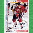 1992-93 Score Hockey #112 Brent Sutter - Chicago Blackhawks