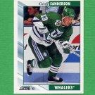 1992-93 Score Hockey #108 Geoff Sanderson - Hartford Whalers