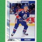 1992-93 Score Hockey #105 Josef Beranek - Edmonton Oilers