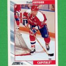1992-93 Score Hockey #098 Todd Krygier - Washington Capitals
