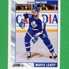 1992-93 Score Hockey #088 Jamie Macoun - Toronto Maple Leafs