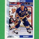1992-93 Score Hockey #086 Ron Sutter - St. Louis Blues