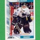 1992-93 Score Hockey #082 Jeff Hackett - San Jose Sharks