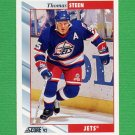 1992-93 Score Hockey #080 Thomas Steen - Winnipeg Jets