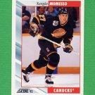 1992-93 Score Hockey #079 Sergio Momesso - Vancouver Canucks