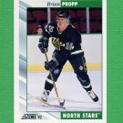 1992-93 Score Hockey #072 Brian Propp - Minnesota North Stars