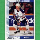 1992-93 Score Hockey #062 Luke Richardson - Edmonton Oilers
